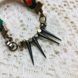 Jewelry - Handmade woven and spiked bracelet